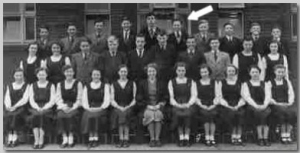 Rothwell Grammar School - Baz is standing between Brian Williams and Jack Berry